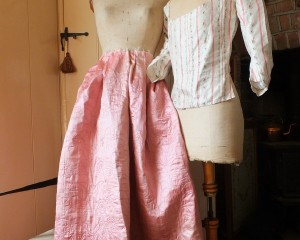Pink Love Hearts! Mid 18th Century quilted petticoat
