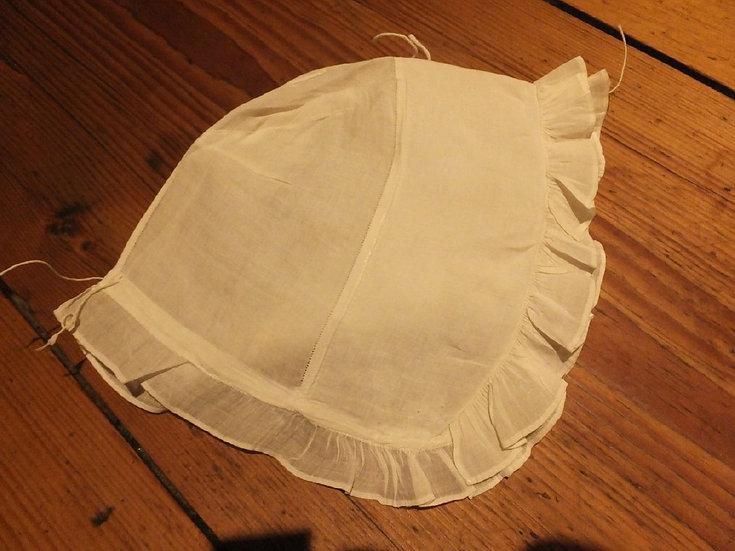 Classic 18th Century 'Plain Sewn' Infant Cap