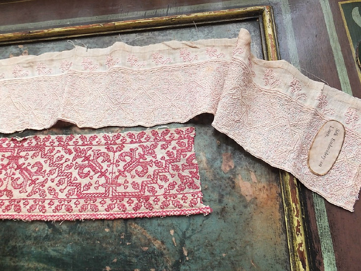 Two examples of c17th Century counted threadwork