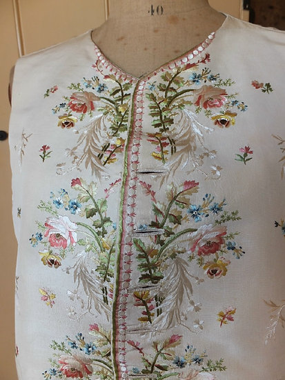 Superbly embroidered 18th Century waistcoat with later renovation