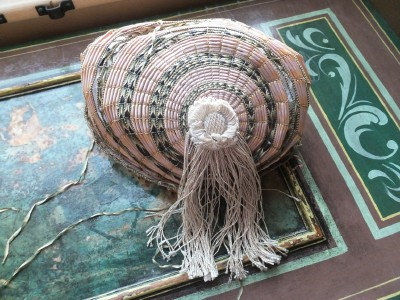 Regency turban hat of straw & ribbons, c1800-1810, with provenance