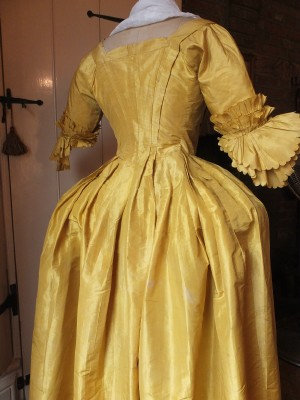 Beloved mid 18th Century dress in Georgian yellow