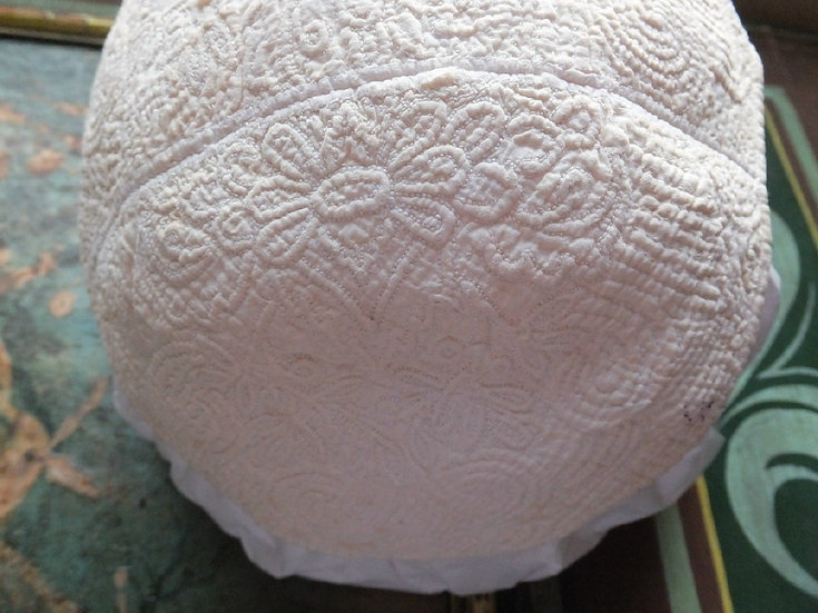 2nd Pre-1750 Italian Work, Cord Quilted Infant Cap