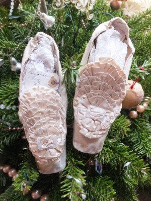 Meyer Julien Paris 1860 silk flounce dancing shoes