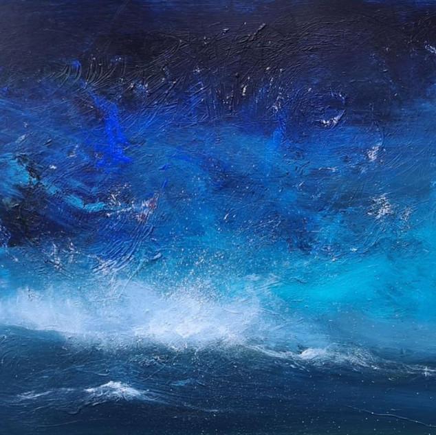 Bølge i blåt
