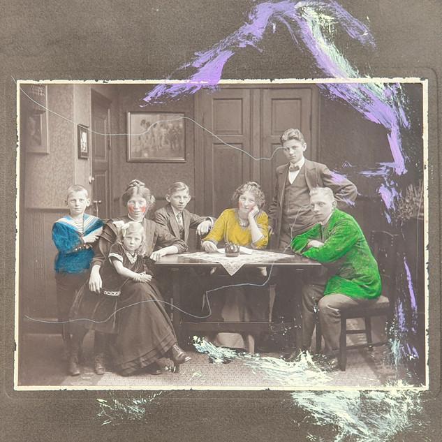 Familiefoto; ca. år 1900