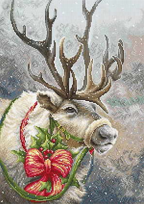 B598 Christmas Deer - Luca-S - Cross Stitch Kit