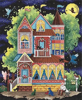 LETI 937 Fairy tale house - Kit de Punto de Cruz LETISTITCH