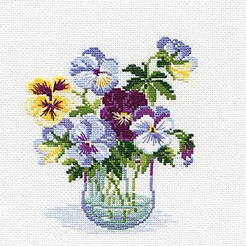 Pansies Cross Stitch Kit