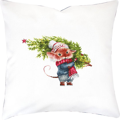 Mouse with Fir Tree - Cushion