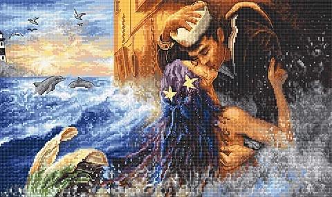 LETI 940 Mermaid kiss - LETISTITCH Cross Stitch Kit