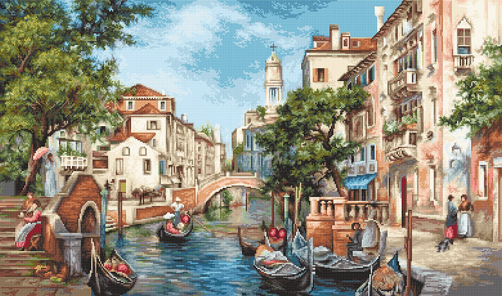 B589 The Streets of San Polo - Luca-S Cross Stitch Kit