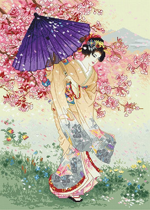 LETI 953 Cherry tree of dreams - LETISTITCH - Cross Stitch Kit