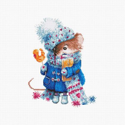 B1168 Christmas Mouse - Cross Stitch Kit
