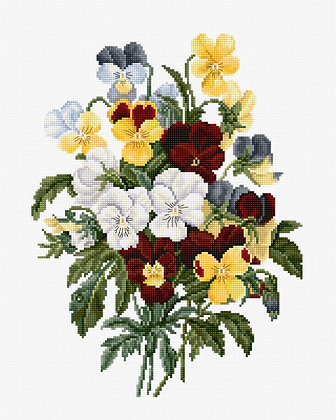 BU4002 Bouquet of Pansies