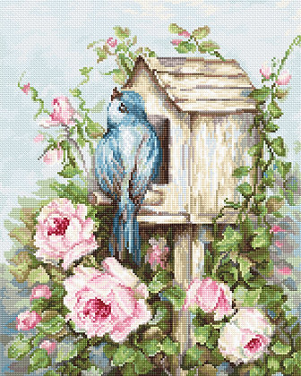 B2352 Bird House & Roses