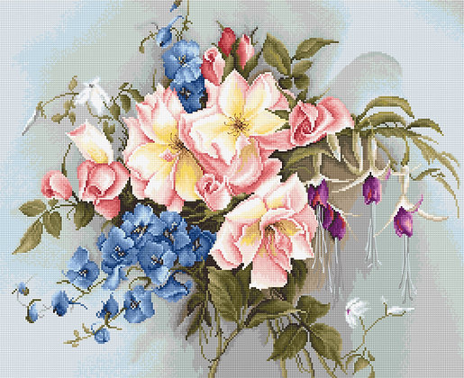 BA2362 Bouquet with Bells - Cross Stitch Kit