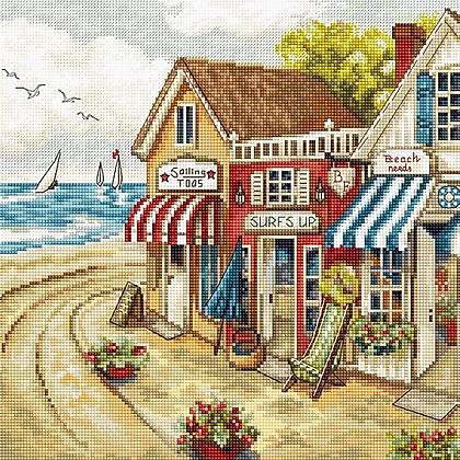 LETI 905 Shops by the sea - Cross Stitch Kit LETISTITCH