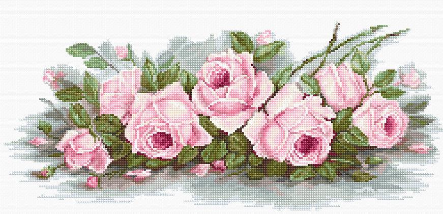BA2353 Romantic Roses - Aida 16 ct.