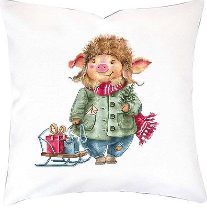 Christmas pig - Pillowcase