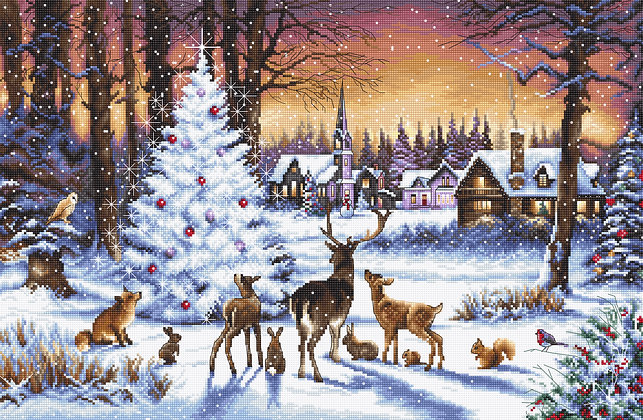 LETI 947 Christmas Wood - LETISTITCH - Cross Stitch Kit