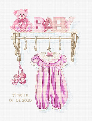 B1175 Baby girl birth - Kit de Punto de Cruz Luca-S