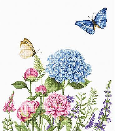 Summer flowers and butterflies - Cross Stitch Kit