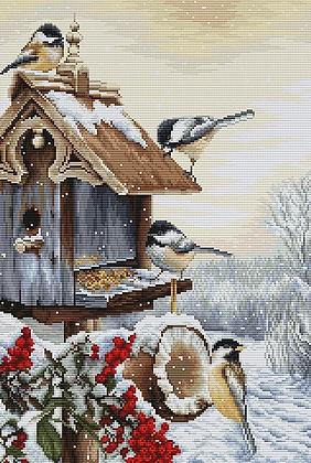 BU4021 Bird House - Luca-S Cross Stitch Kit