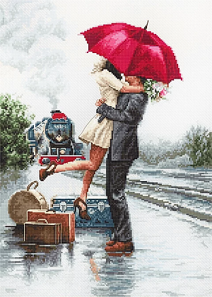 B2369 Couple on train station - Luca-S - Cross Stitch Kit