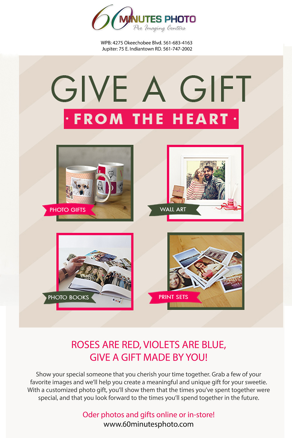 Customize your Valentines Gifts with Photos