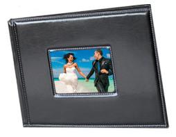 Personalized wedding books, photo albums, leather bound. Jupiter FL 60 Minutes Photo.
