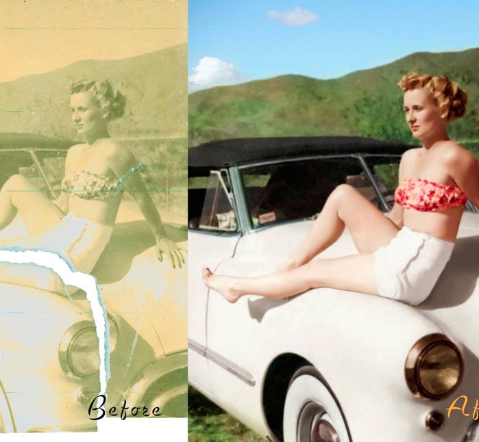 Print photo restoration