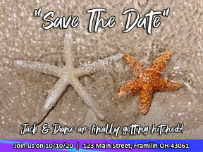 Save The Date wedding invitations at 60 Minutes Photo in Jupiter Florida