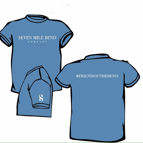 Friend of the Bend t-shirt - Washed Denim