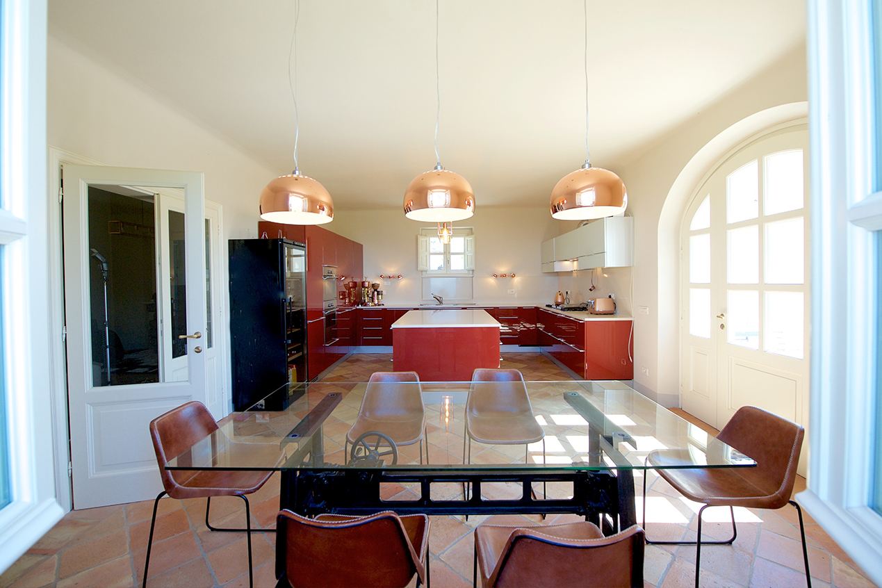 Contemporary kitchen and dining