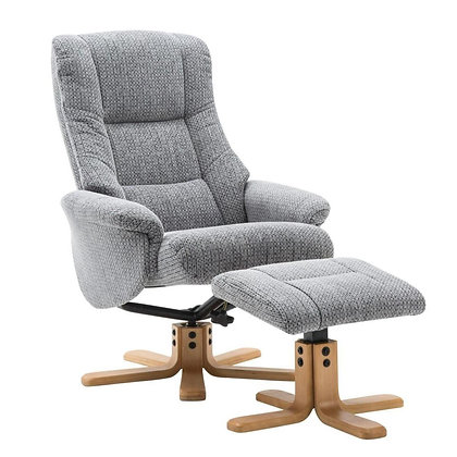 Florida Swivel Recliner and Footstool