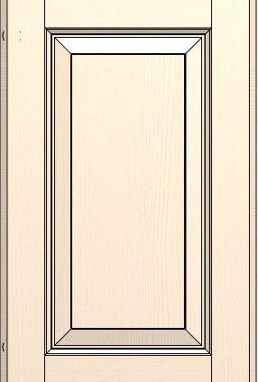 Madeleine Line Frame Butter White Ash