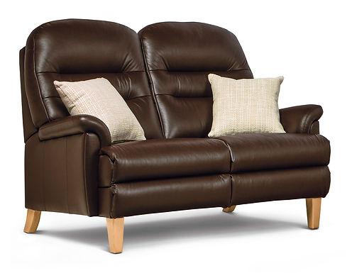 Sherborne Keswick Classic Standard Leather Fixed 2-Seater Settee