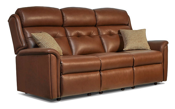 Sherborne Roma Standard Leather Reclining 3-Seater Settee