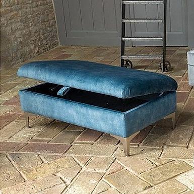 Alstons Upholstery Legged Ottoman
