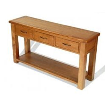 Earlswood Oak Large Console Table