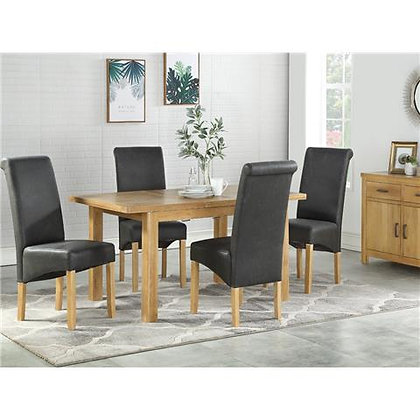 Andorra Washed Oak 5ft Butterfly Extension Dining Set