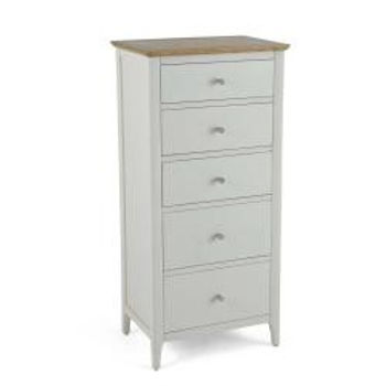 Branford Painted 5 Drawer Tall Chest