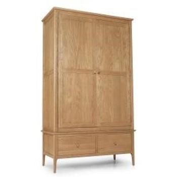 Corbett Oak Double Wardrobe with Drawer
