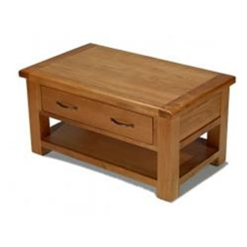 Earlswood Oak Coffee Table With 4 Drawers