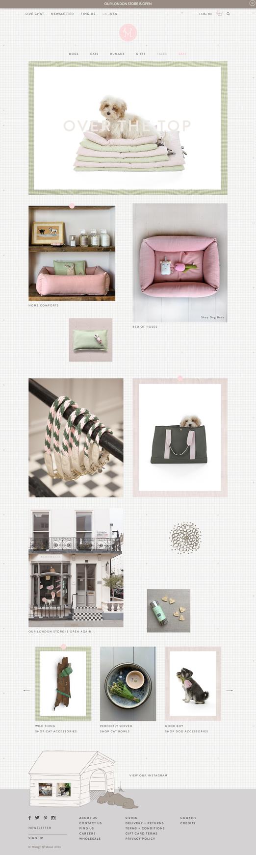 Mungo & Maud: Homepage May 2020
