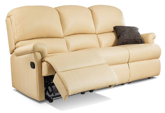 Sherborne Nevada Standard Leather Reclining 3-Seater Settee