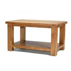 Earlswood Oak Coffee Table With Shelf