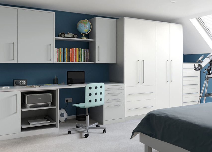 Locano MFC Bedroom Grey and White
