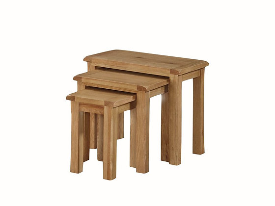 Kilmore Oak Nest of 3 Tables
